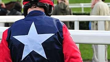 Jockey with star silks